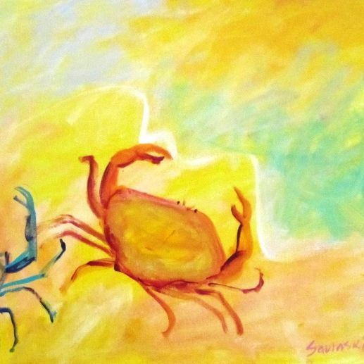 abstract crab painting