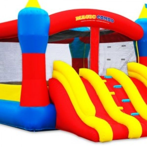 This 15x15 bounce house combo has 2 slides $150 for 3 hours plus delivery fee or $185 all day including delivery*