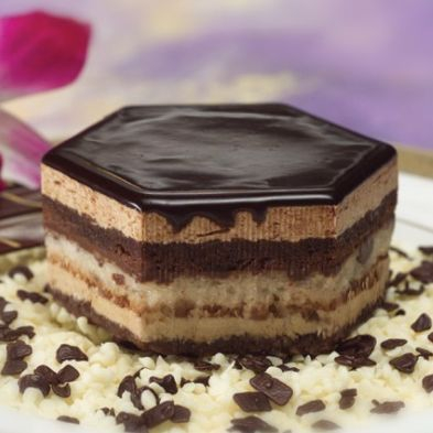 opera cake chocolate mousse espresso dessert plated sweets  catering seattle