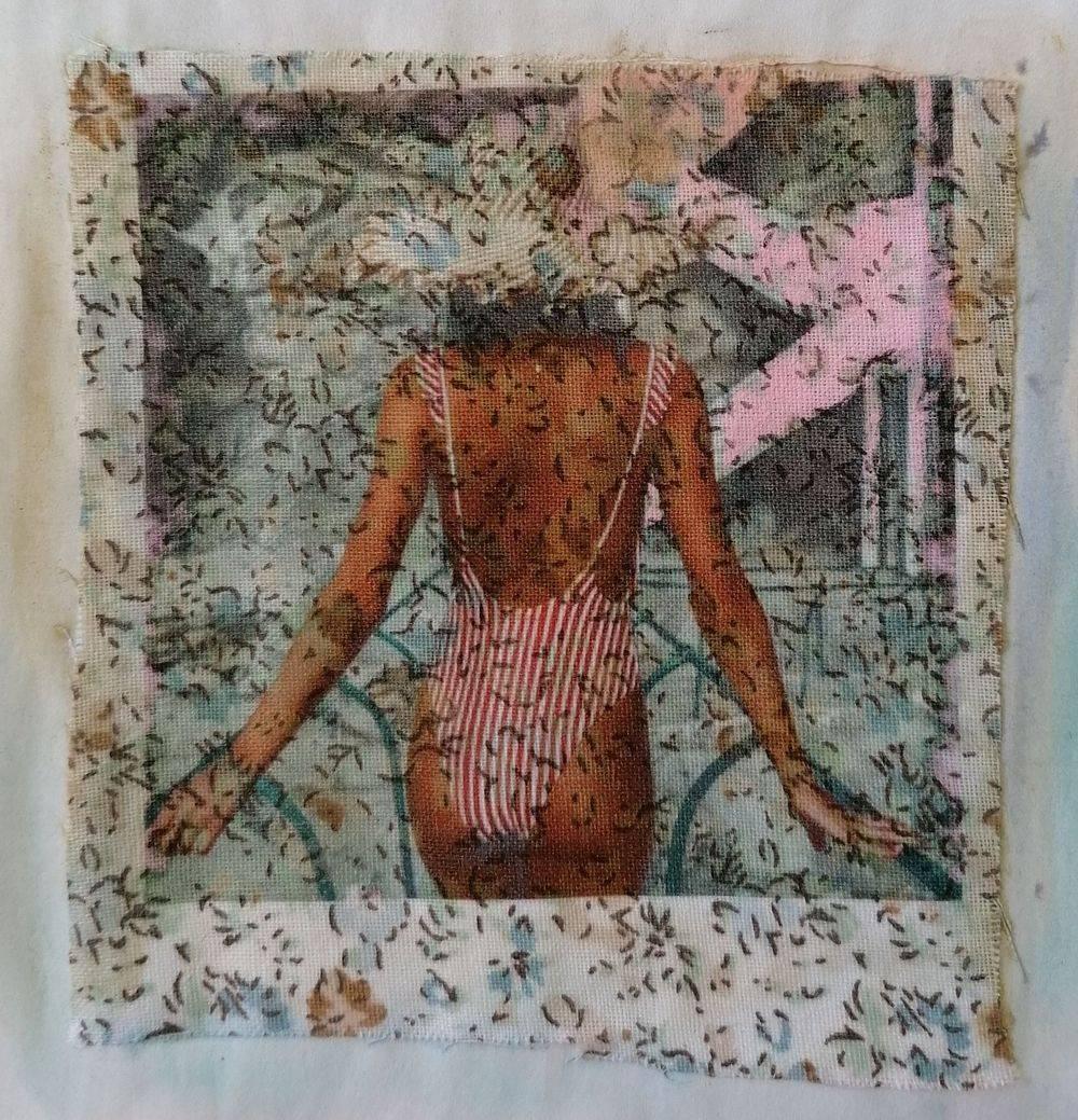 Aquarelle, Textile, Femme, Portrait, Histoire de l'art