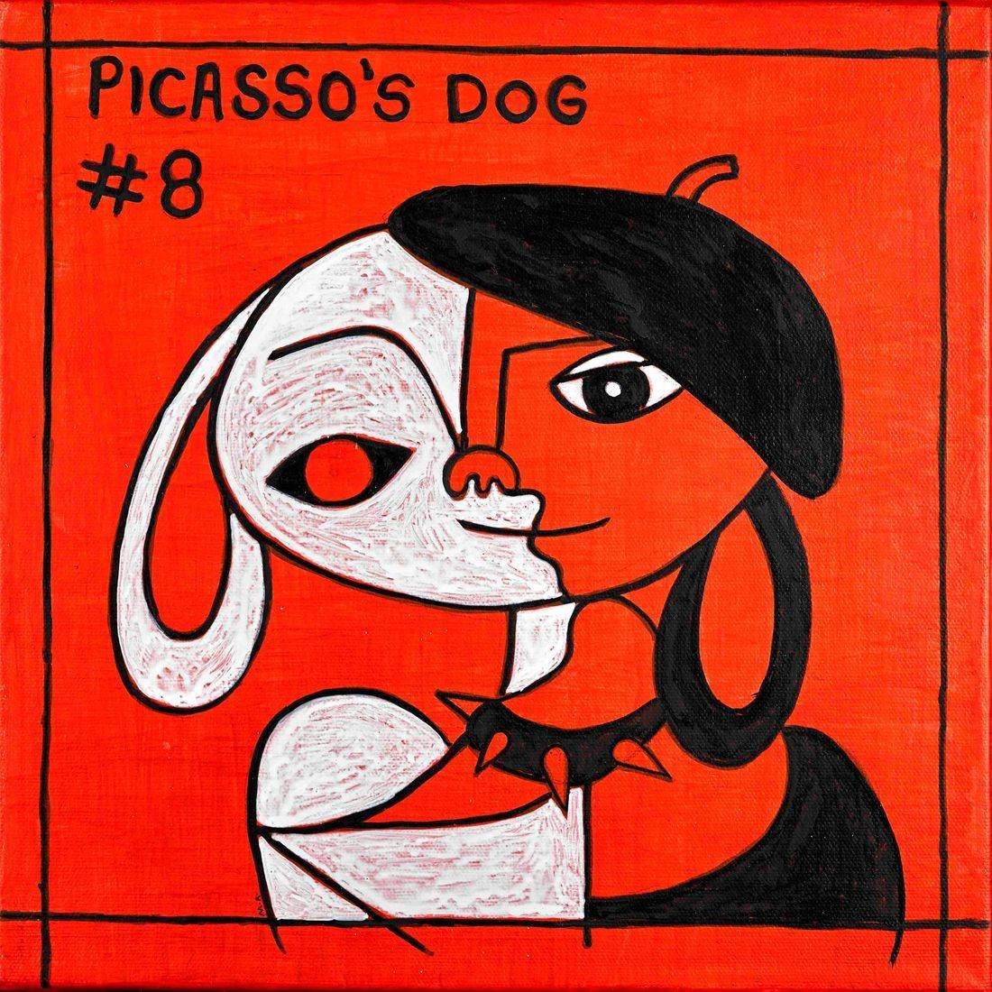 Picasso, Picasso's Dogs, Artists, Artists' Dogs, Beret, Picasso's Style of Dress, Anthropomorphism, Studded Dog Collar