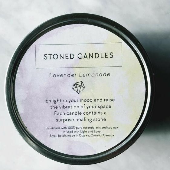 Lavender and Lemonade Soy Candle, Eleven Eleven Candle, Locally made candle, exhalo spa, spa Barrhaven