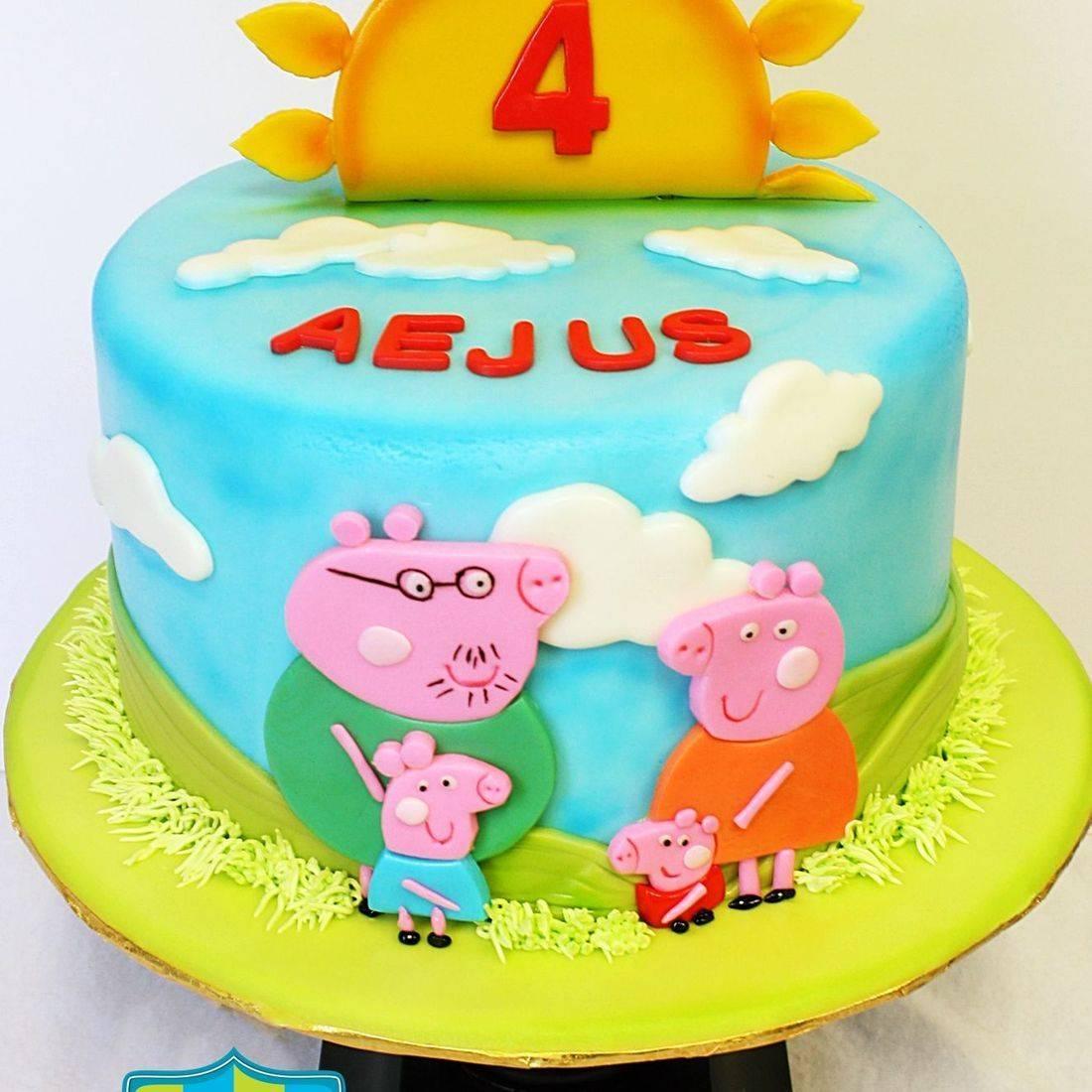 Custom Peppa Pig Family  Cake Milwaukee