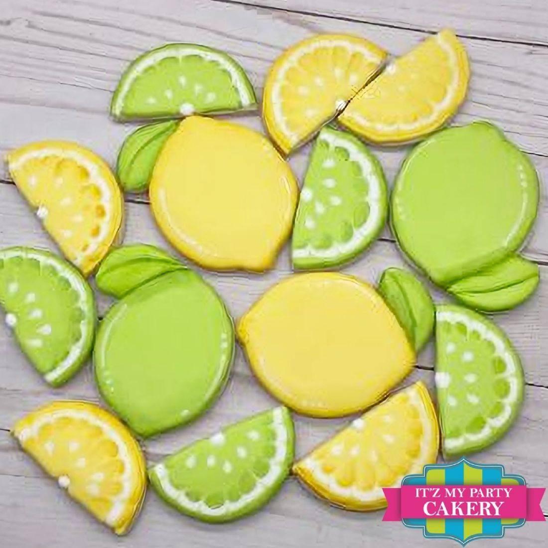 Lemon Cookies, Lime Cookies, Lemon Slice Cookies, Lime Slice Cookies, Citrus Cookies, Itz My Party Cakery