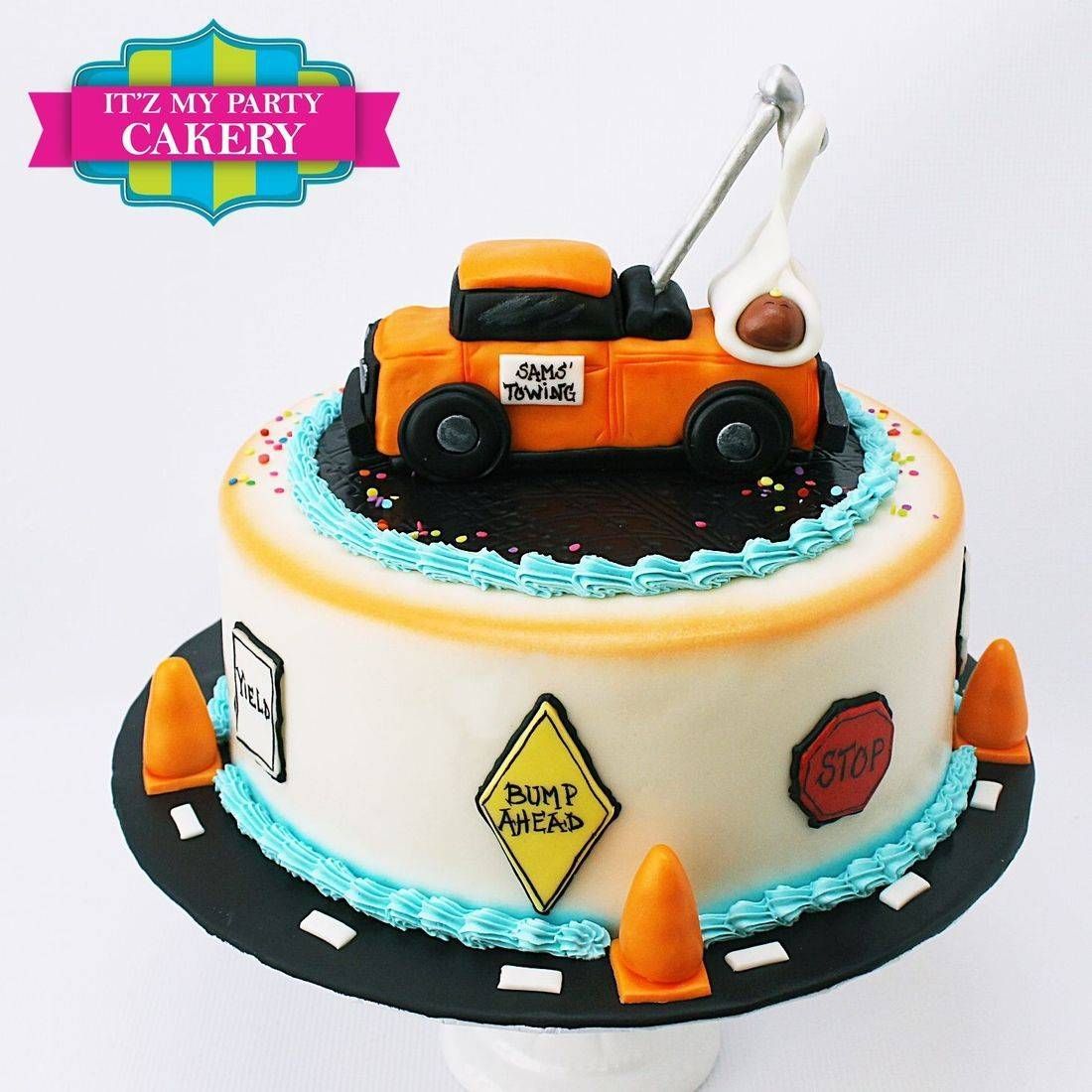 Custom  Tow Truck Baby Cakes  Milwaukee