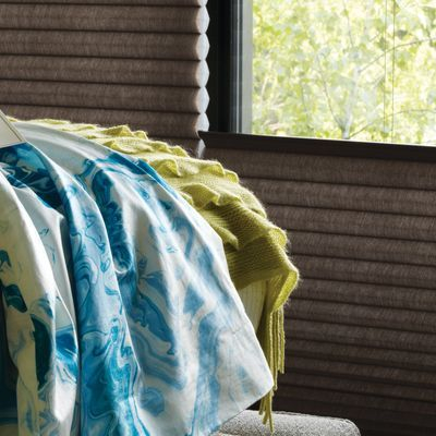 The Alustra line of fabrics and colors offers beautiful options for window treatments.
