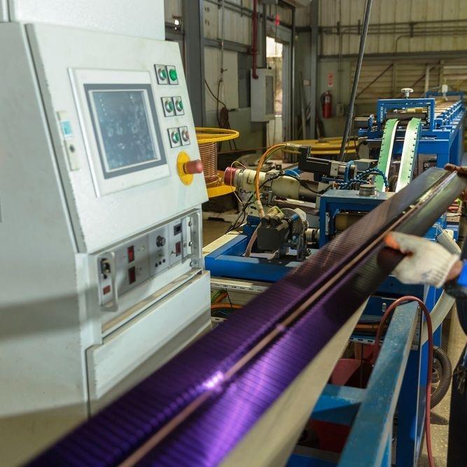 Maquinaria industrial para la fabricación de calentadores solares