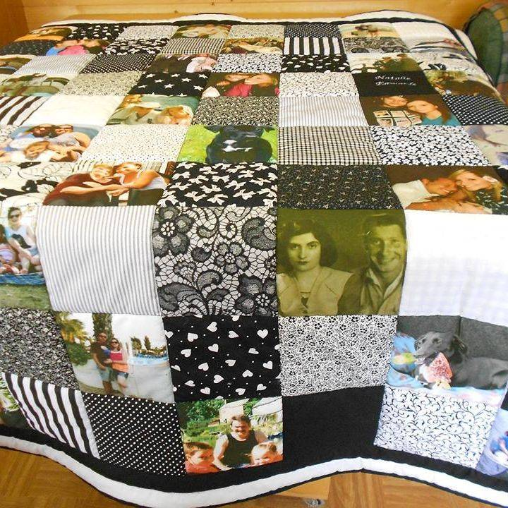 Black & White photograph quilt