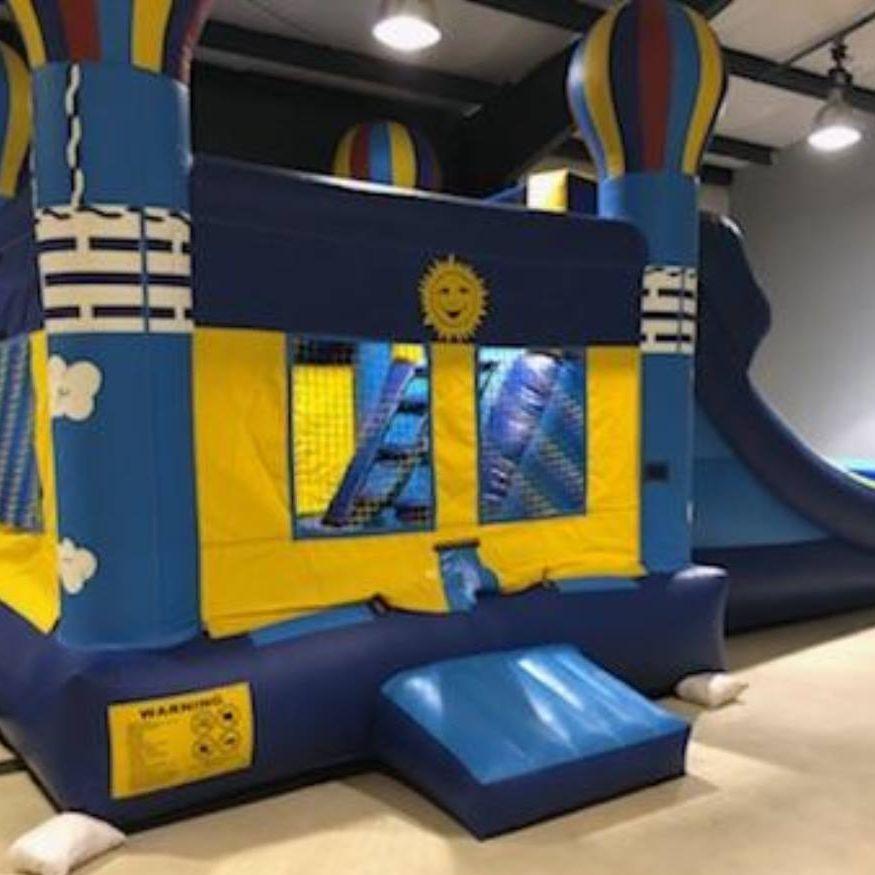 balloon bounce house dry slide combo