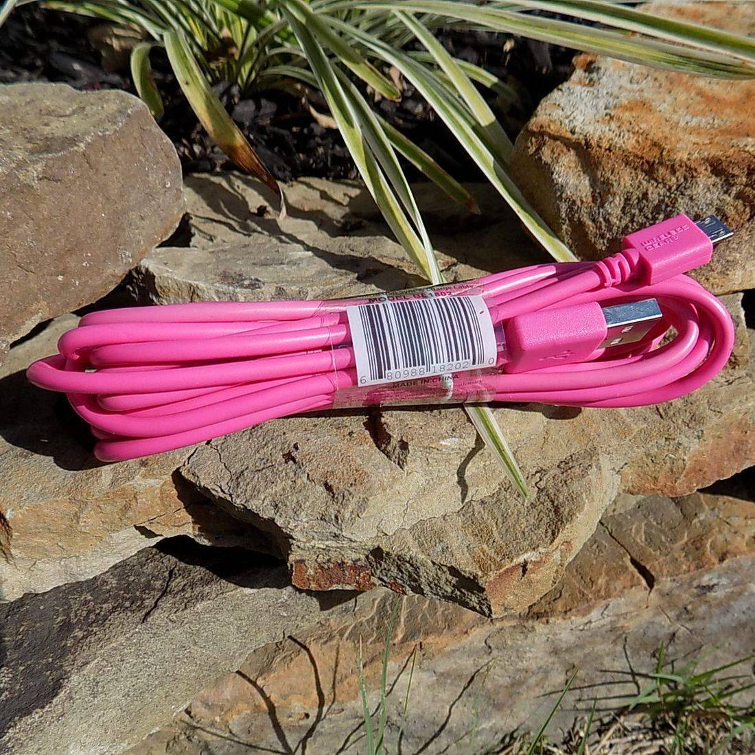 PINK CELL PHONE CHARGER (11 FOOT)