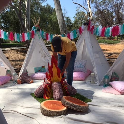 Kids party rentals, teepee rentals, party rentals, Happy Campers, Happy Glampers,  birthday, party, parties, kids, teepees, indoor, campsites, new, adventure, Newport Beach, CA