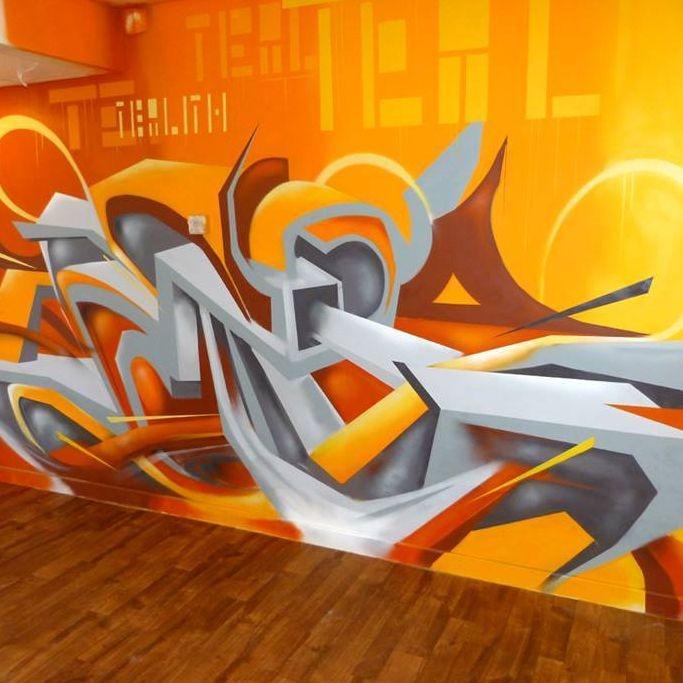 Dekorációs falfestés falfestmény graffiti festés  dekoráció