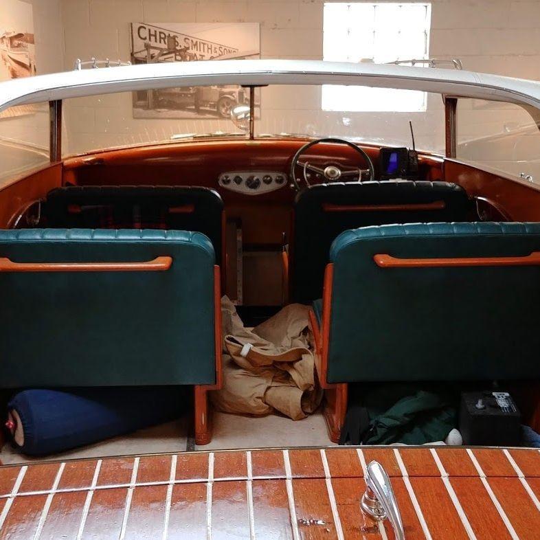 24 Shepherd Hardtop at lake geneva wood boat showroom