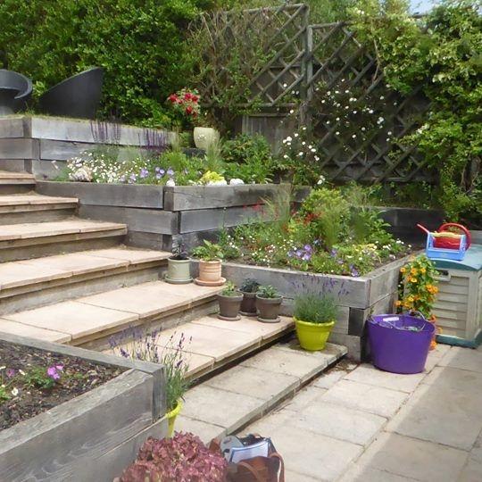 Surrey Garden Summer gardening  bright flowers
