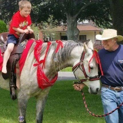 Cowboy horse rides
