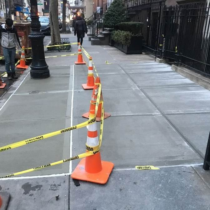 Exterior Concrete Sidewalk Installation Arcedo Construction