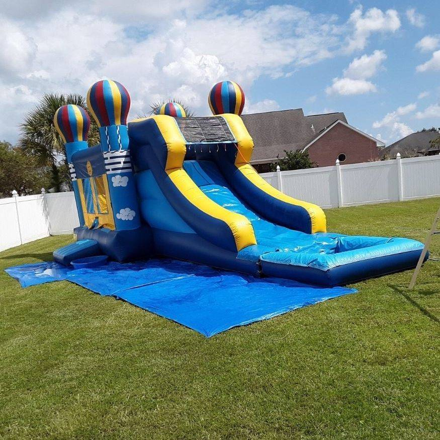 balloon bounce house waterslide combo
