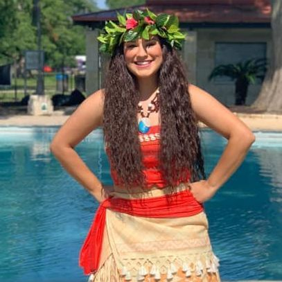 Princess Moana for children's birthday parties in San Antonio