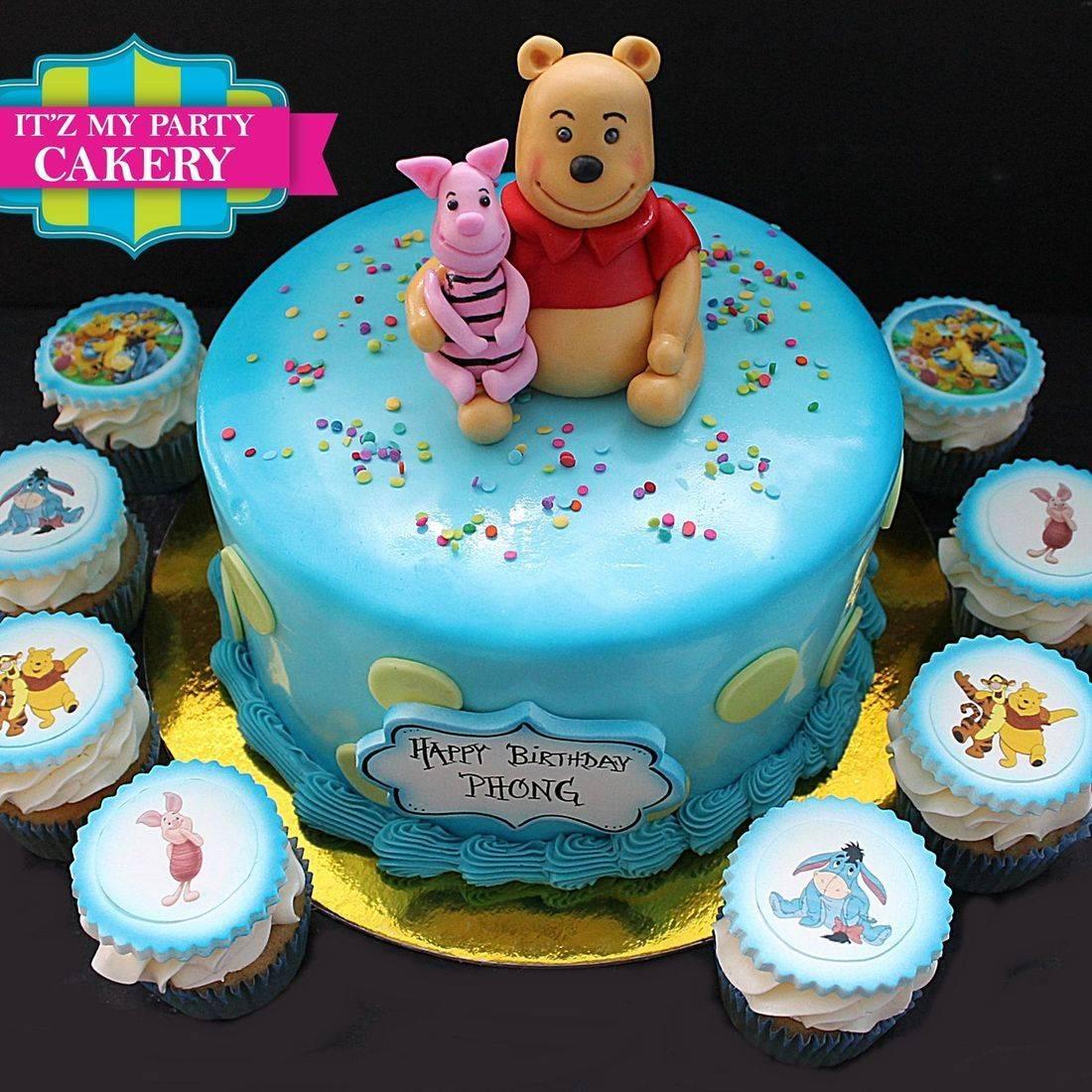 Custom Winnie The Pooh cakes