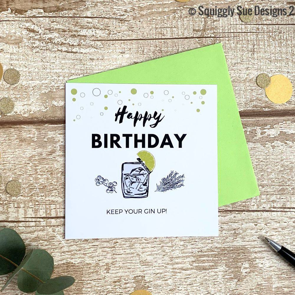 Perfect  birthday card for a gin lover  funny cheeky