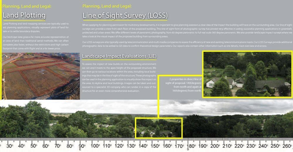 Line of sight survey mast drone photography Essex