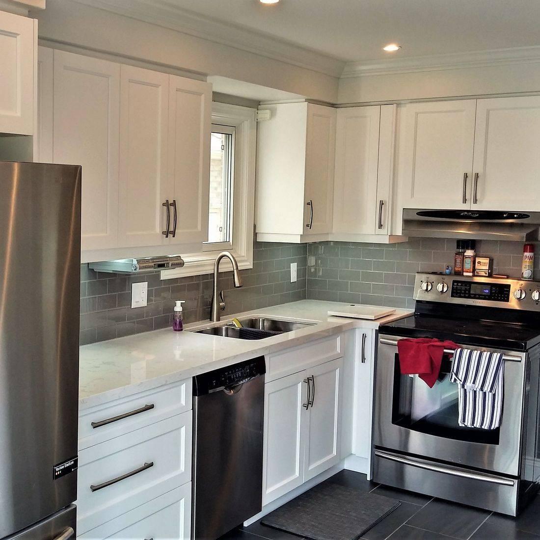 Sibra Kitchens Markham Toronto white thermofoil shaker cabinets