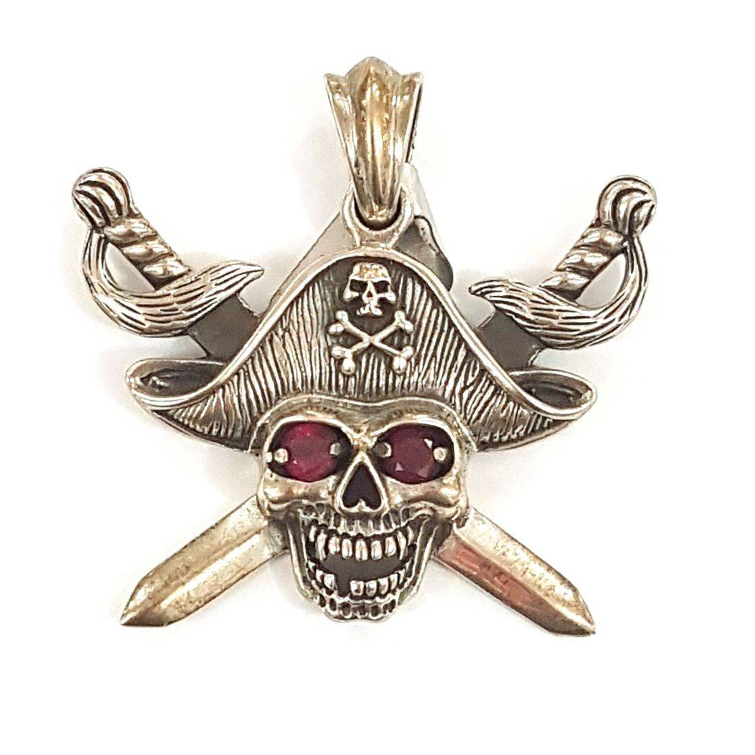 Skull Pirate pendant  available at Kazbah online and our Leicester City Centre shop