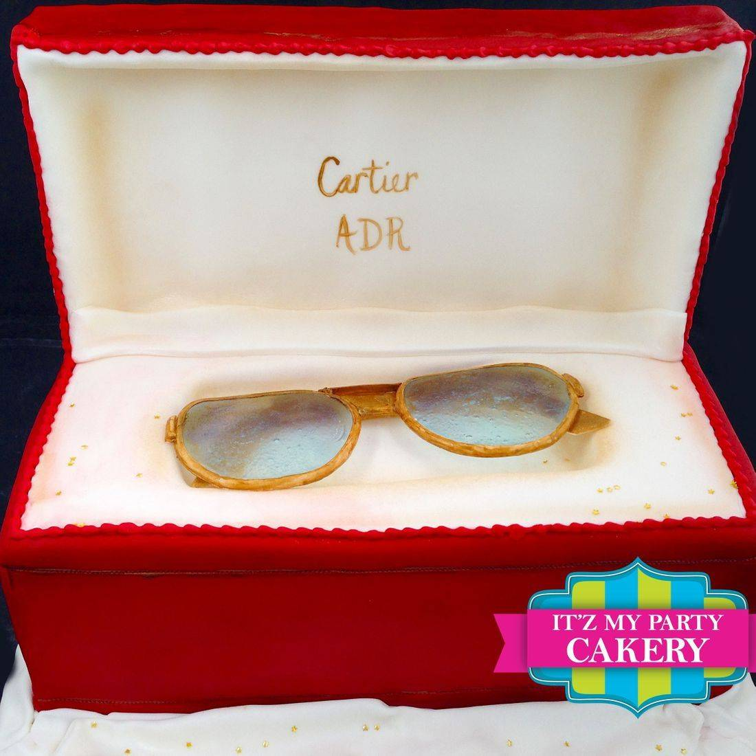 Cartier Glasses Carved Dimensional Cake Milwaukee