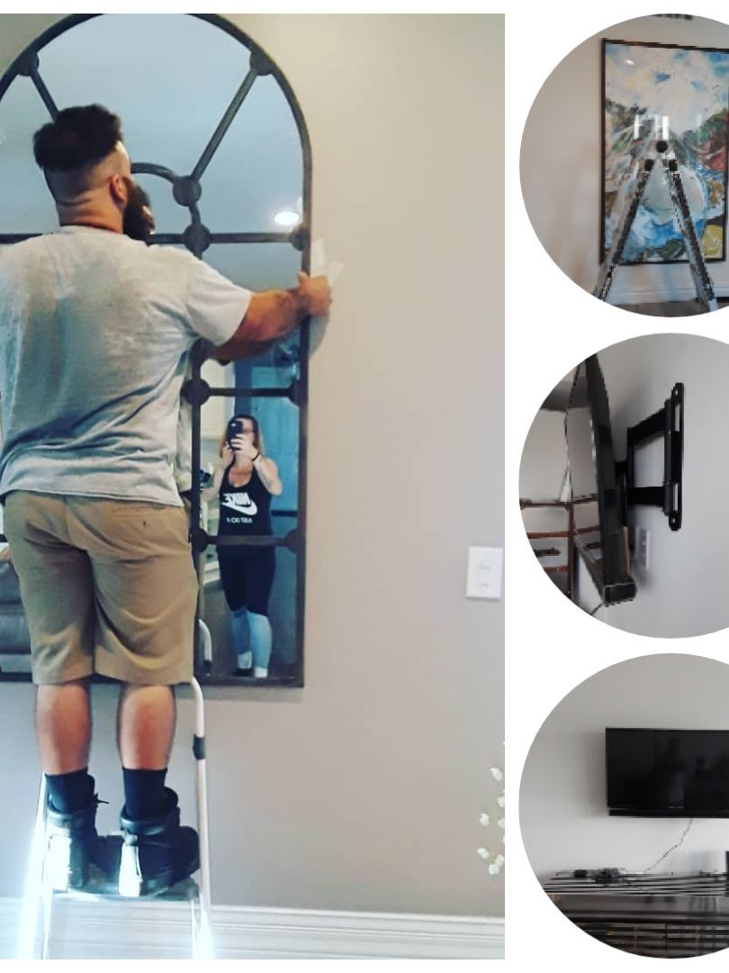 picture/mirror hanging sarasota handyman