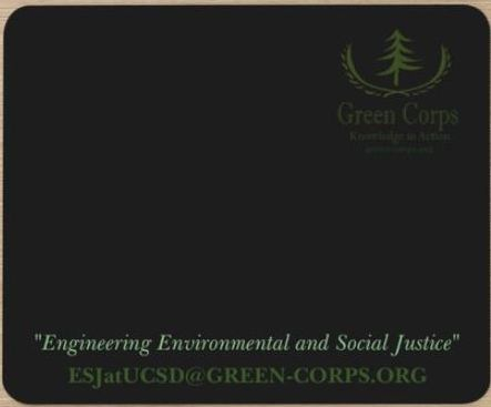 Green Corps Mouse Pad - Black