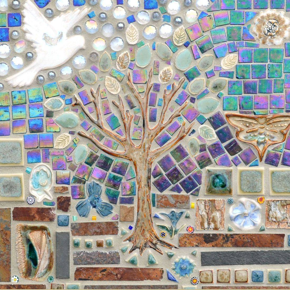 Mosaic Table Top Art, Hand Made