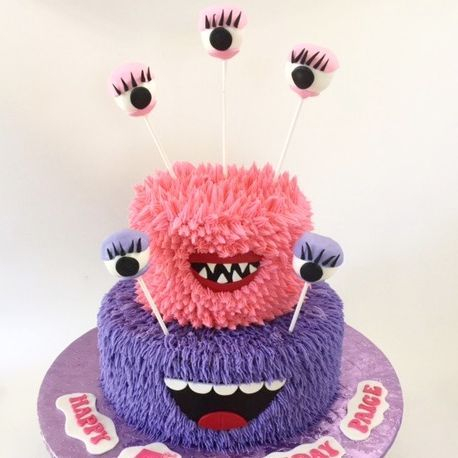 Girly Monster Birthday Cake