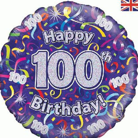 100th Birthday Balloon delivered