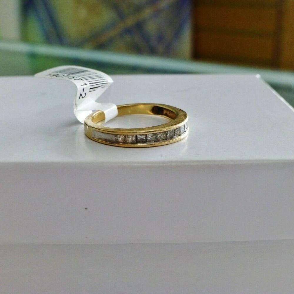 Ladies Princess Cut Diamond Wedding Band  on a white box for sale