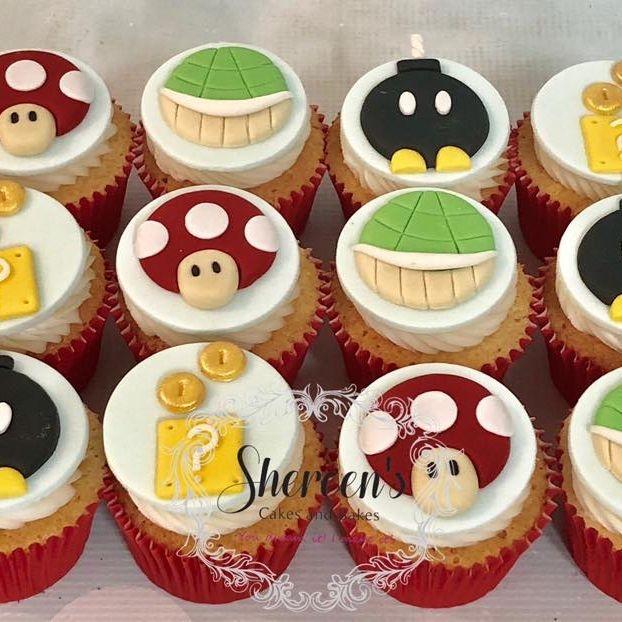 Super Mario Cupcakes Box Mushroom Tortoise Bomb