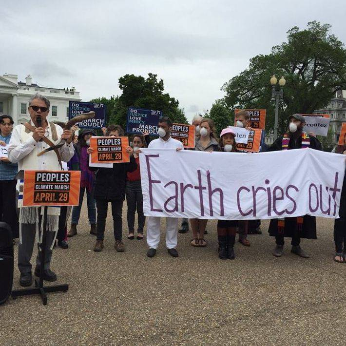 Protest for Climate Justice  in front of White House
