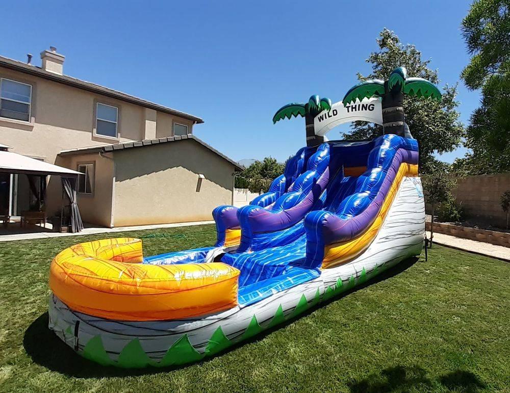 waterslide for rent near me Moreno valley menifee riverside Beaumont Hemet party rentals paludis jumpers