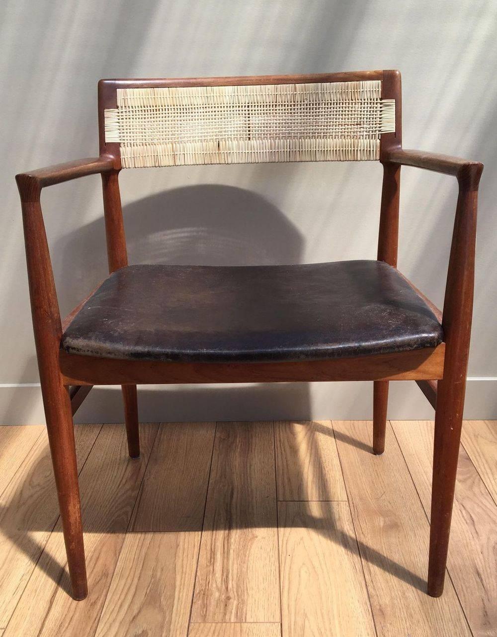 ERIK WØRTS caned back chair