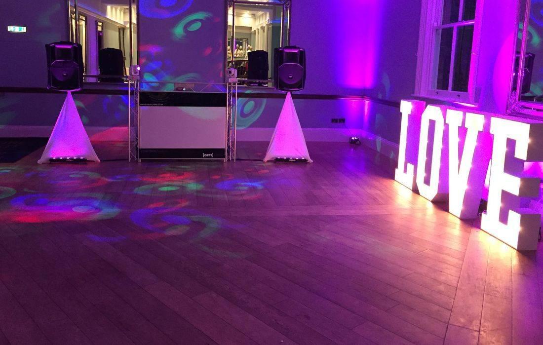 DJ Ollie Clarke Wedding Set up @ Pendrell Hall Wedding Venue Staffordshire