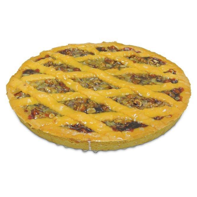 Mürbeteig Kuchen mit Sauerkirschfüllung & Trockenfrüchte