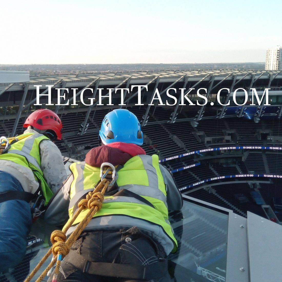 Working at height, temporary safety system.