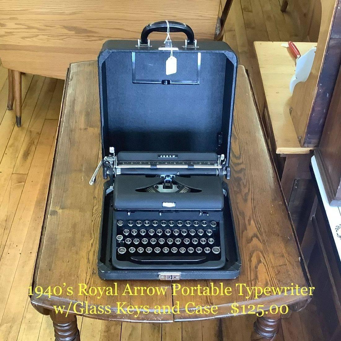 1940's Royal Arrow Portable Typewriter   $125.00