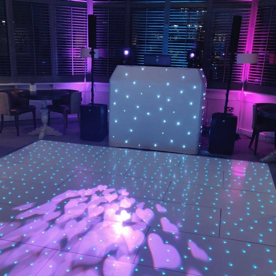 Brokencote Hall Worcestershire wedding DJ Led dancefloor
