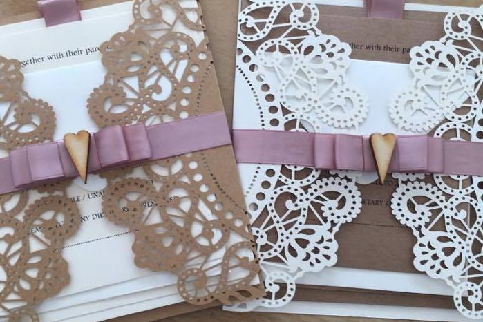 Lasercut wedding invitation, luxury wedding invitation, wedding invitations