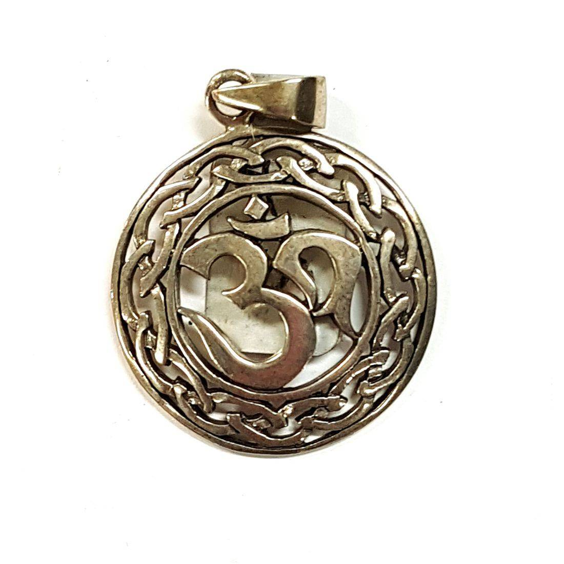 Silver Om Pendant  available at Kazbah online and our Leicester City Centre shop