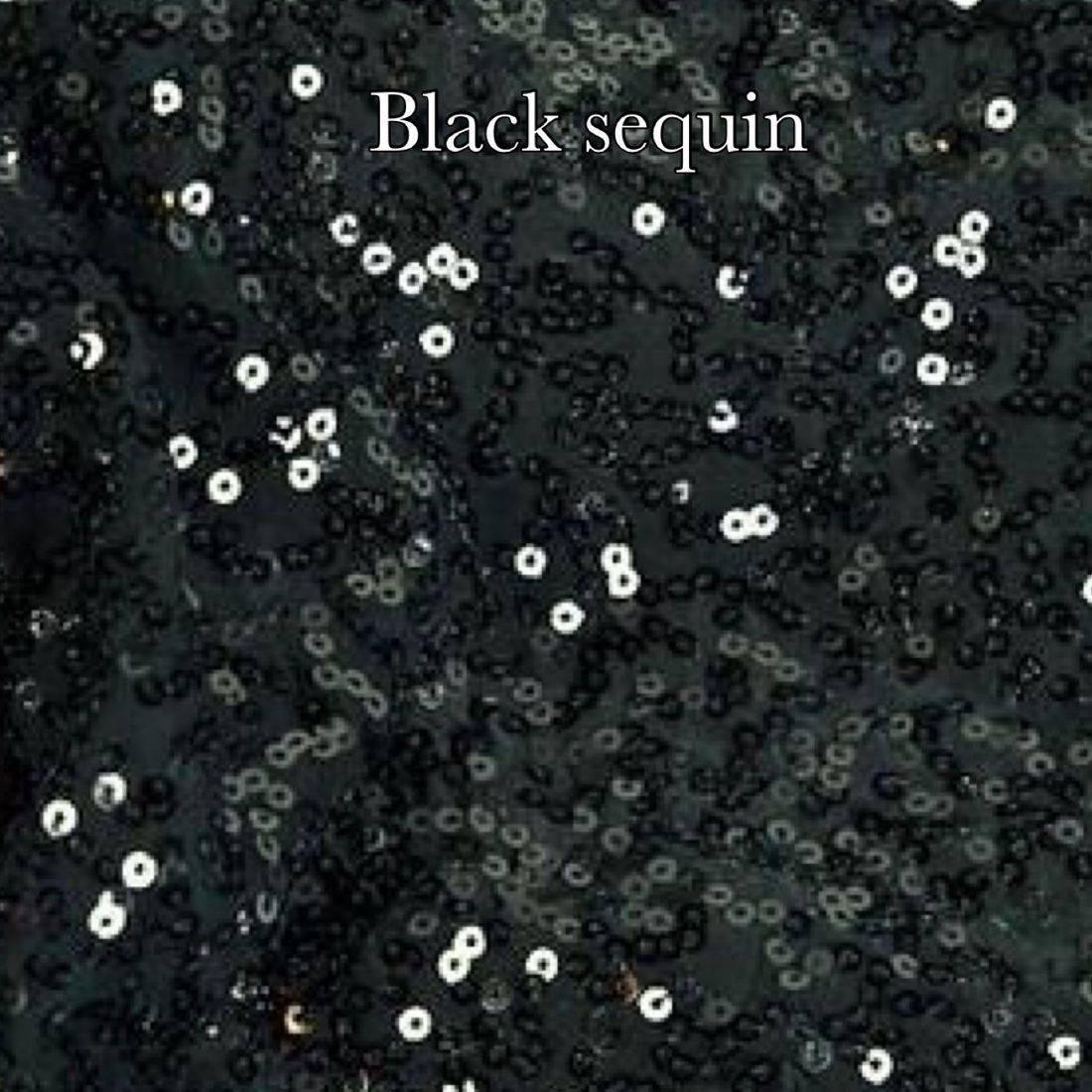 Black sequin