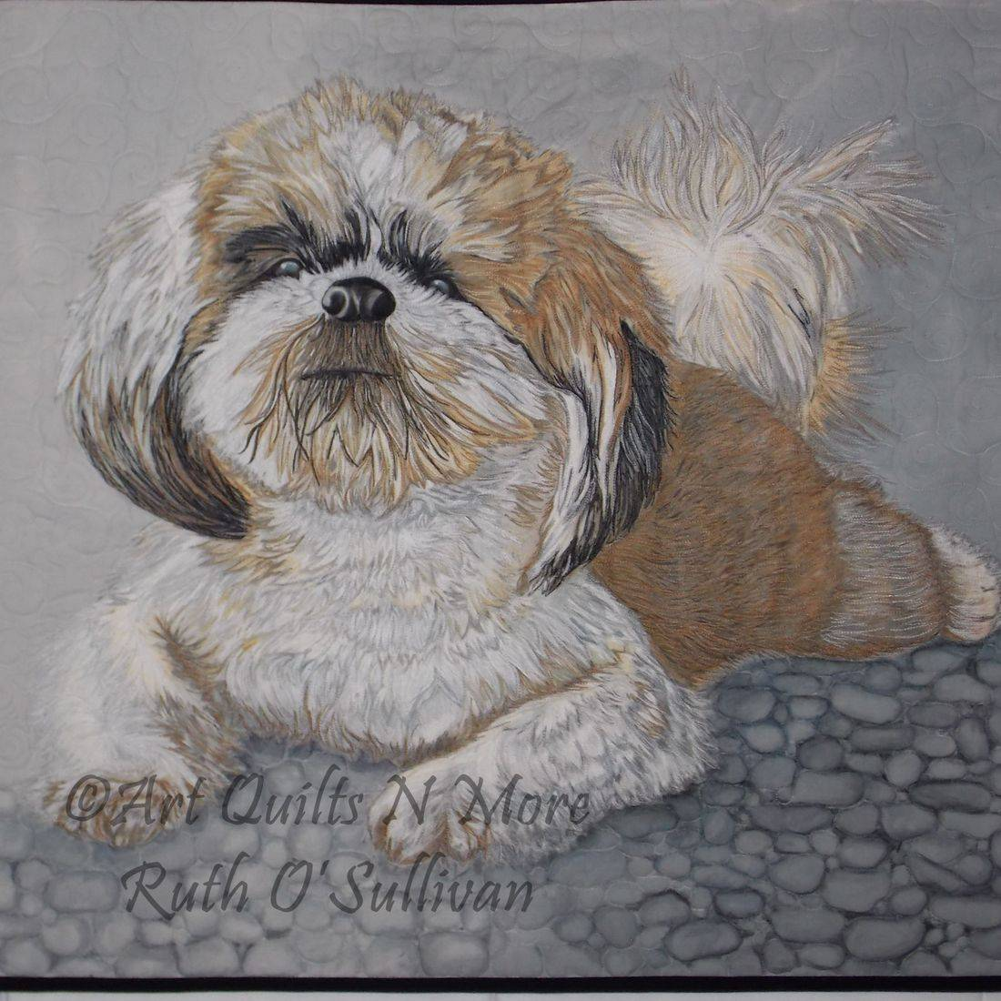 pet portrait, art quilt, memory quilt, PET PORTRAIT