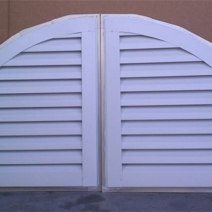 left and right quarter round gable louvers