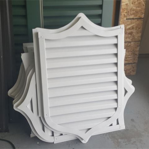 Custom aluminum gable vent