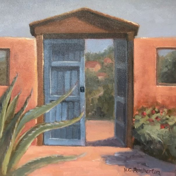Gate, Texas, Hacienda, Garden, Possum Kingdom, Western Art